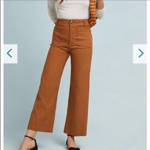 NWT Anthropologie High Rise Wide Leg Trousers
